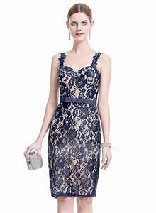 forme fourreau amoureux longueur genou dentelle robe de With robe de cocktail combiné avec bracelet ruban message