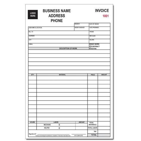 custom business forms invoices receipts continuous