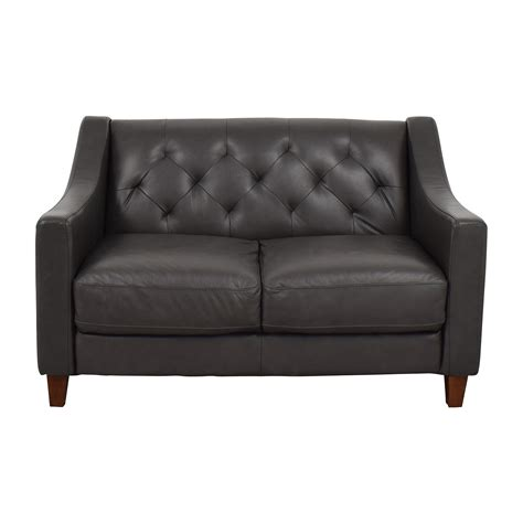 Leather Tufted Loveseat by Sleep Sofas Buy