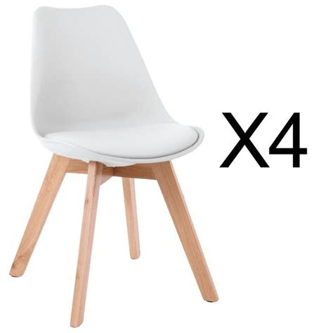 chaises blanches pas cher chaise scandinave avec coussin achat vente chaise