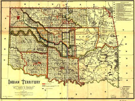 American Indian Reservations In Oklahoma 1889 Idca