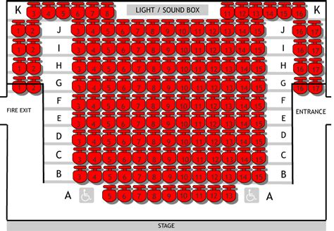 Seat Plans | Hillingdon Theatres
