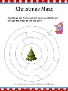 Kindergarten Christmas Worksheet