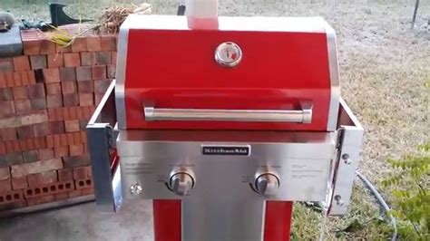 kitchenaid  burner propane gas grill  action youtube