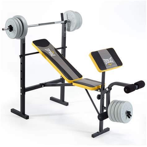 bench with weights fitness and sports new everlast weight benches