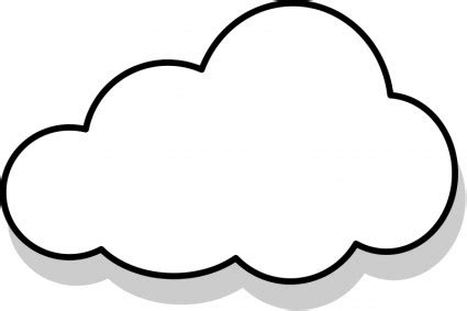 Cloud Template With Lines by Cloud Template Clipart Best