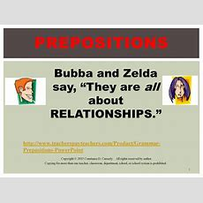 Teach It Write  Prepositions Are Talkin' About Relationships