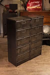 Meuble Industriel Vintage : meuble de metier ancien meuble industriel vintage de renaud jaylac ~ Nature-et-papiers.com Idées de Décoration
