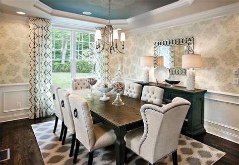 9x12 Area Rugs With Transitional Dining Room And Patterned