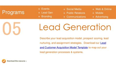 lead generation marketing plan template marketing plan presentation template