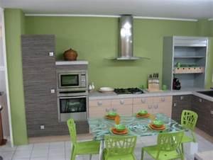 cuisine vert gris perfect les meilleures ides de la With idee deco cuisine avec cuisine gris et vert