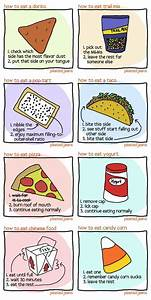 Simple Instructions On How To Eat Food