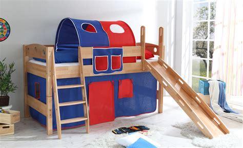 stockbett mit rutsche p16nrl hochbett spielbett buche bett stockbett etagenbett rutsche vorhang 90x200 ebay
