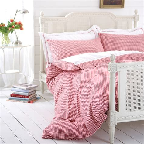 Red Gingham Bedding Bed Linen Duvet Cover Or Fitted Sheet