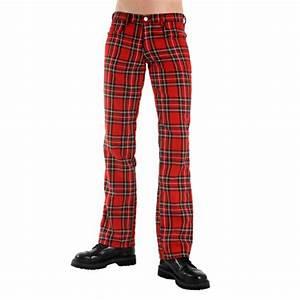 pantalon tartan rouge mode alternative boutique With pantalon homme a carreaux ecossais