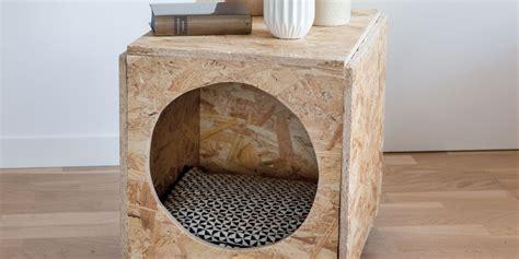 cabane pour chat diy animaux une cabane pour chat dans une table de chevet