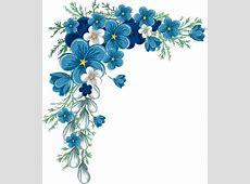 blue flower border png Google'da Ara kwiaty