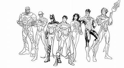 League Coloring Justice Pages Origins Printable Netart
