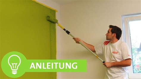 Eine Wand Farbig Streichen w 228 nde streichen w 228 nde einfach farbig streichen mit