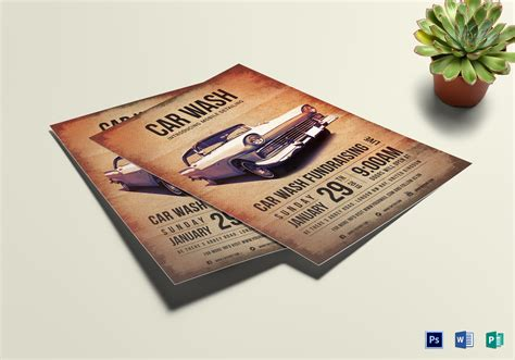 Customize your flyers with dozens of themes, colors, and styles to make an impression. Car Wash Fundraising Flyer Design Template in Word, PSD ...