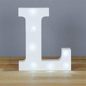 light up letter l home decor barbours With letter l light