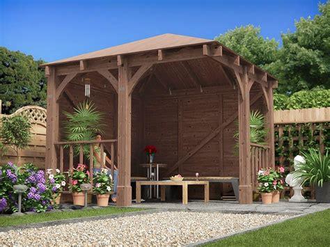 wooden garden gazebo centaur chunky corner gazebo gazebos