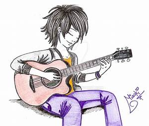 Playing Guitar by Mizuki1992 on DeviantArt