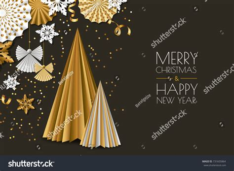 Christmas day and new year both come in winter holidays. Merry Christmas Happy New Year Greeting Stock Vector ...
