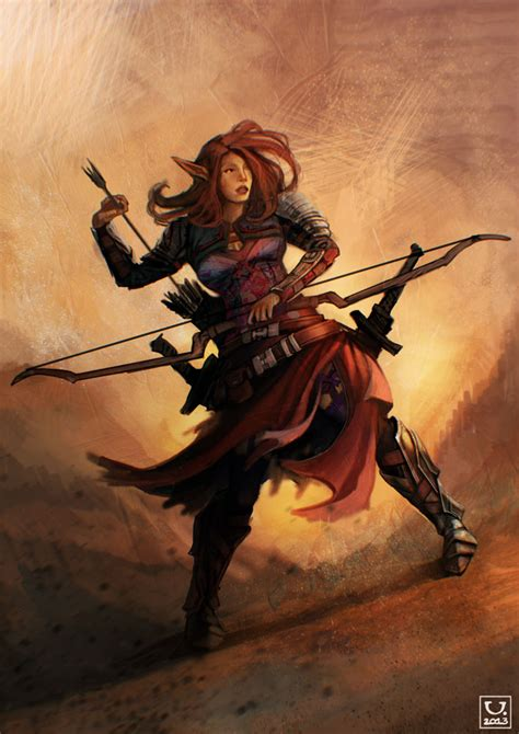 elf huntress  carloscara  deviantart