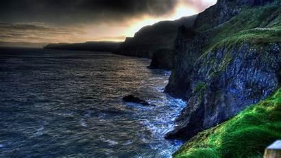 Ireland Northern Ballintoy Amazing Coastline Beach Desktop