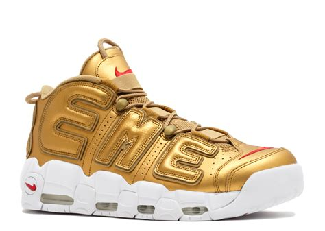 supreme shoes air more uptempo quot supreme quot nike 902290 700 metallic