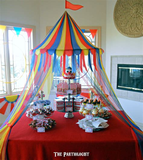 big top baby shower ideas circus party