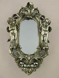 Wandspiegel Barock Silber : wandspiegel engel dekospiegel barock spiegel rahmen antik silber barockrahmen ~ Whattoseeinmadrid.com Haus und Dekorationen
