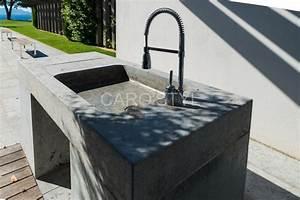Evier Cuisine En Pierre : evier en pierre grise carrelage et salle de bain la seyne ~ Premium-room.com Idées de Décoration