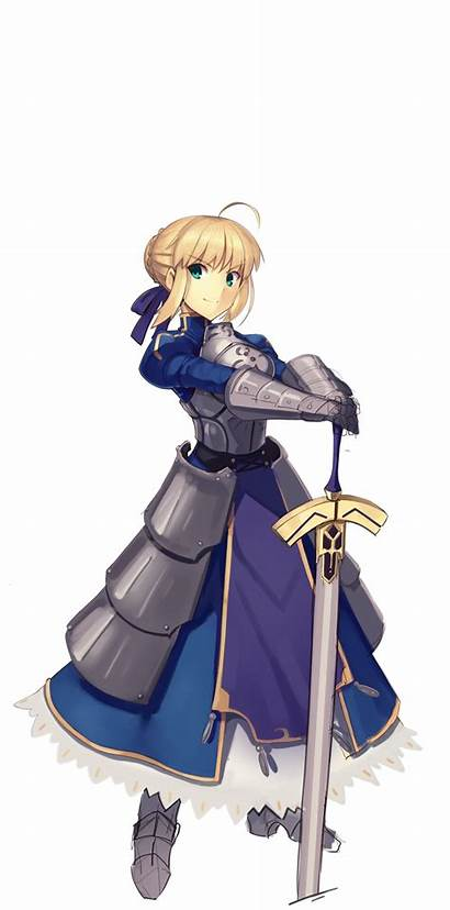 Transparent Pendragon Artoria Hilt Purple Pose Ribbon