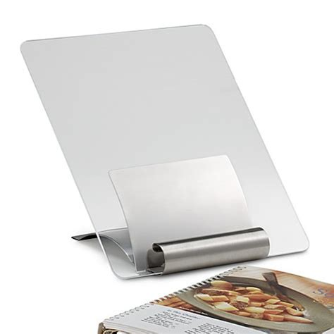 Stainless Steel Cookbook Stand with Cover   Bed Bath & Beyond
