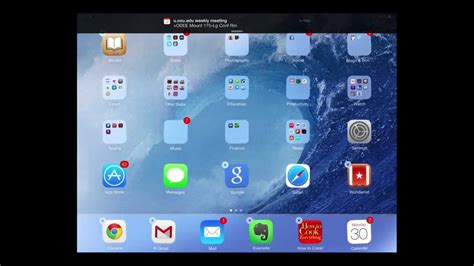 organizing apps on your in ios 7