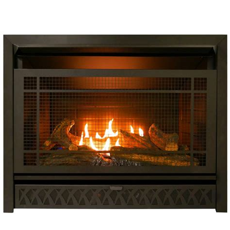 gas fireplace insert dual fuel technology  btu