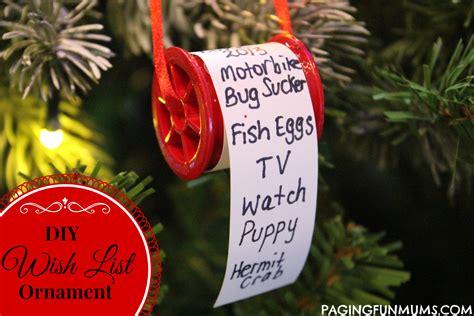 adorable christmas wish list ornament paging fun mums