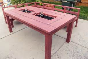 patio table with built in boxes how to build