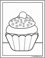 Cupcake Coloring Sprinkles Pdf Pages Nonpareil Printable Colorwithfuzzy Printables sketch template
