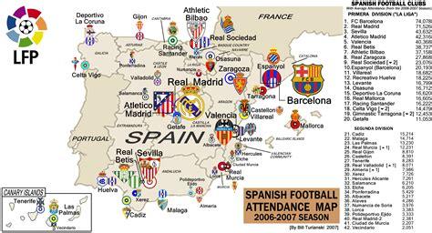 Spain: La Liga, 2007 Attendance Map. « billsportsmaps.com