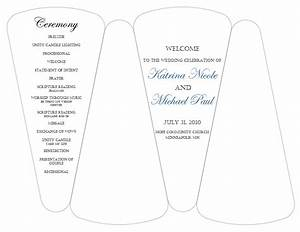 8 best images of wedding program template free printable card card free printable wedding for Free wedding fan template