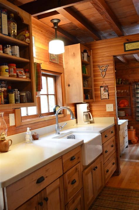 rustic cabin kitchen ideas rustic cabin galley kitchen cultivate com log home