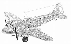 Airspeed Oxford Cutaway Drawing In High Quality