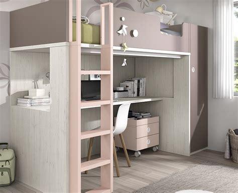 lit mezzanine bureau ado lit haut composé d un bureau et d une armoire meubles