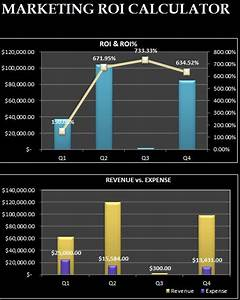 Excel Home Loan Calculator Marketing Roi Calculator Myexceltemplates Free Download