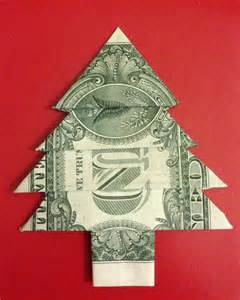 items similar to one dollar bill money origami christmas tree the best way to impress people on etsy