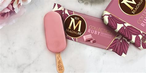 magnums  ruby ice cream bars  coated  naturally
