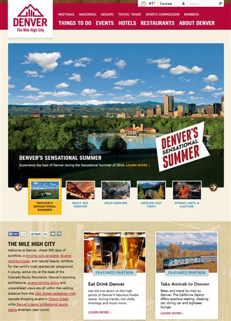 denver visitors bureau denver äôs most popular tourism website gets an